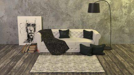 Moderne og rå møbler med luksuriøse detaljer